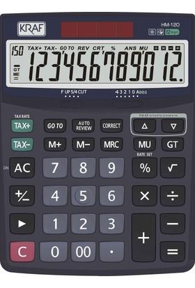 Kraf Hesap Makinesi Masaüstü 12 Hane Tax Hm-120