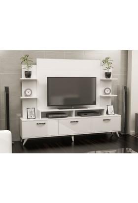 Dekoriz Diamond Lux Tv Ünitesi Beyaz