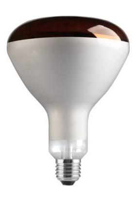 General Reflektör Infrared Kızılötesi Isıtıcı Ampul R125 E-27 Duy 250W Kırmızı Işık