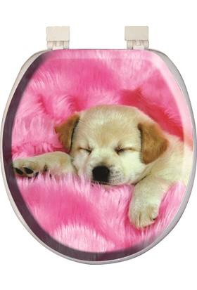 Softy Süngerli Desenli Klozet Kapağı Köpek Desenli