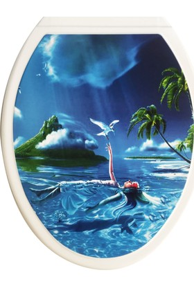 Rona Neva Thermoplast Desenli Klozet Kapağı Deniz Kızı