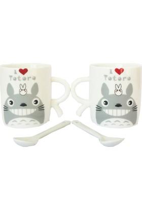 Gogo Totoro Love Seramik Fincan Seti