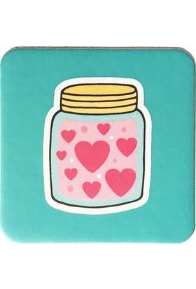 Gogo Love In Jar Bardak Altlığı Seti