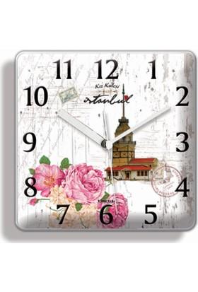 Time Gold Lotus Mıknatıslı Buzdolabı Saati