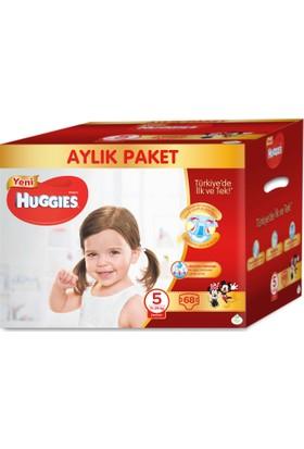 Huggies Bebek Bezi 5 Beden Aylık Paket Junior 68 Adet