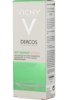 Vichy Dercos Anti-Pelliculaire Sensitive 200 Ml - Hassas Ve Kaşıntılı Saç Derisi İçin Şampuan