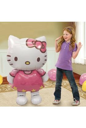 116x68cm Büyük Boy Hello Kitty Kedi Doğum Günü Süpriz Balon cin03