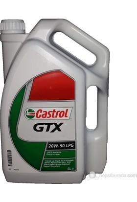 Castrol GTX LPG 20w50 - 4 Lt - Benzinli LPG Motor Yağı (Üretim Yılı:2017)