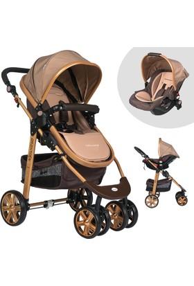 Baby Home Bh-500 Gold Comfort Travel Sistem Bebek Arabası - Kahverengi