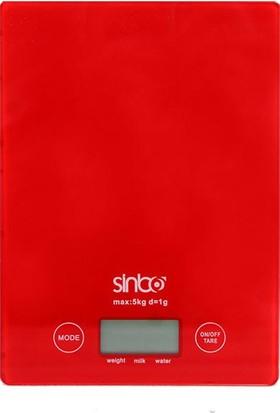 Sinbo SKS-4519 Mutfak Terazisi - Kırmızı