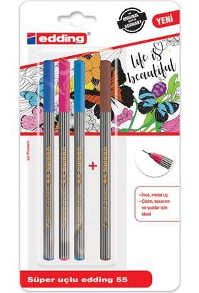 Fine Pen 4 Lu Blister Karışık Set4