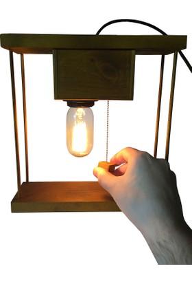 Dokdesign Nostalji Zincir switch Masa lambası E27 Duy