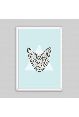 Cat Çerçeveli Poster