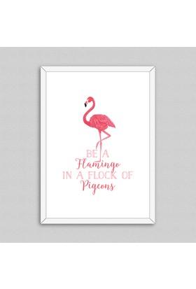 Flamingo Çerçeveli Poster