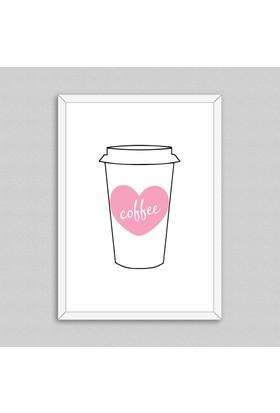 Coffee Cup Çerçeveli Poster