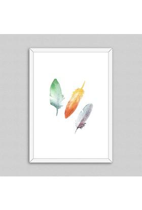 Feathers Çerçeveli Poster
