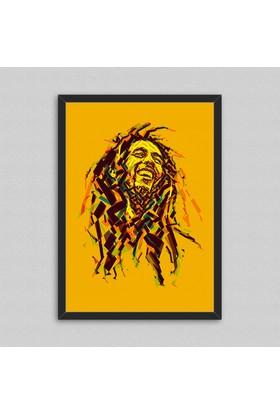 Bob Marley Çerçeveli Poster