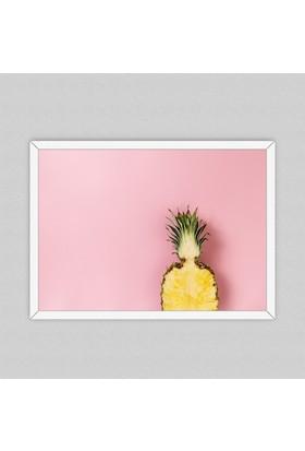 Half Pineapple Çerçeveli Poster