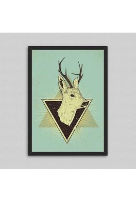 Deer Çerçeveli Poster