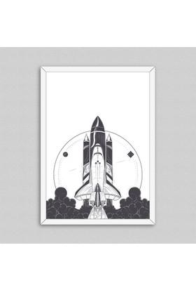 Spaceship Çerçeveli Poster