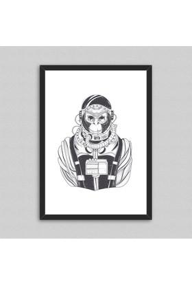Monkey Ham Çerçeveli Poster