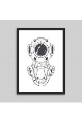 Astronaut Çerçeveli Poster