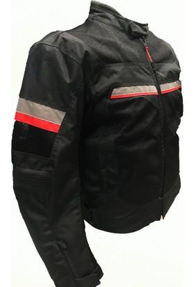 Motosiklet Fileli Erkek Montu Yazlık Siyah X-Large Motospartan