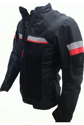 Motosiklet Fileli Bayan Montu Yazlık Siyah X-Small Motospartan