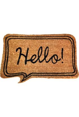 Giz Home Koko Kapı Paspası 40X60 Bej Hello