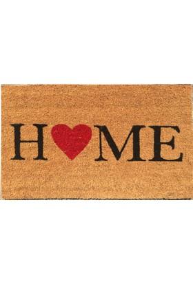 Giz Home Koko Kapı Paspası 40X60 Home Kalp