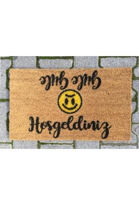 Giz Home Koko Kapı Paspası 33X55 Hosgeldınız Güle Güle Smıle