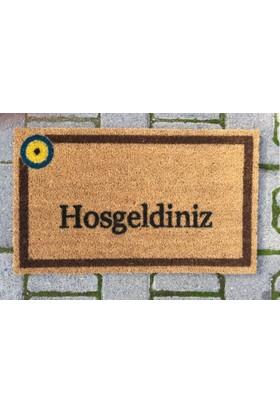 Giz Home Koko Kapı Paspası 33X55 Hosgeldınız Nazar Kahve