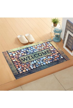 Giz Home Trendy Kapı Paspası 45X75 Welcome Tas