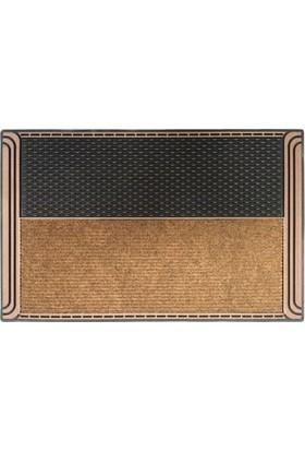 Giz Home Modern Halılı Kapı Paspası 40X60 Bronz Gıtter Noppe