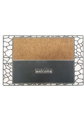 Giz Home Modern Halılı Kapı Paspası 45X75 Bronz Stone Fıeld