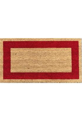 Giz Home Koko Kapı Paspası 40X70 Bej Kırmızı Çerçevelı