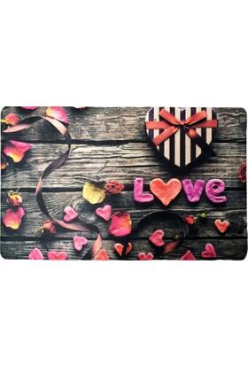 Giz Home Fashıon Kapı Paspası 40X70 Romantıc Love