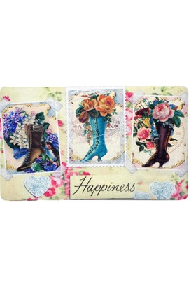 Giz Home Fashıon Kapı Paspası 40X70 Happıness