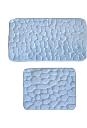 Giz Home Samos Klozet Takımı 50X80 Mavı Tas