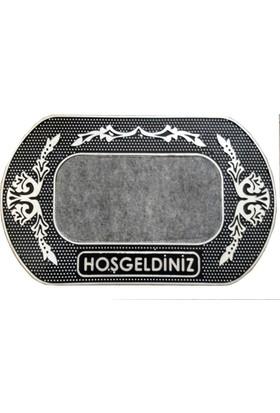 Giz Home Portomat Kapı Paspası 40X70 Silver Hosgeldiniz