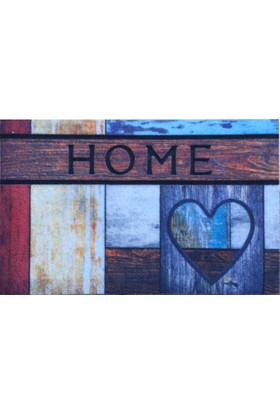 Giz Home Rock&Roll Kapı Paspası 40X60 Kalplı Home