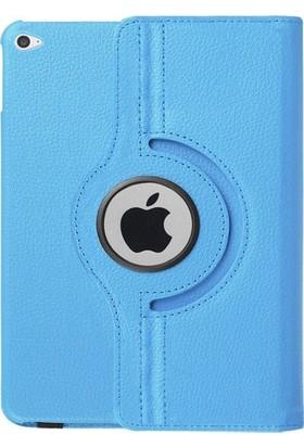 TechnoStyle iPad 2, 3, 4 360 Derece Dönebilen Deri Kılıf Mavi