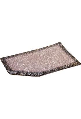 Globy Melamin Granit Sunum Tabağı Kesme Kenarlı 33,6 x 21 cm