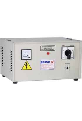 Demiriz MSR 15 (160 V - 250 V) 15 kVA Monofaze Tam Otomatik Servo Voltaj Regülatörü