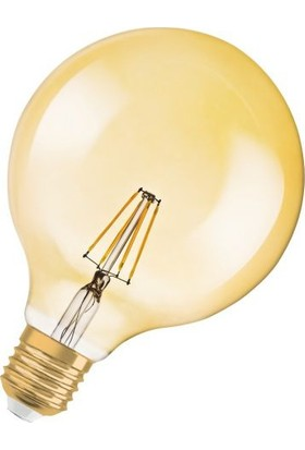 Osram Vintage 1906 Led Globe 7W Ampul Rustik Filament Glop Tip 7W/824 Sarı işik
