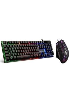 Tigoes K9 Mekanik Hisli Klavye + X5 Makrolu Oyuncu Mouse