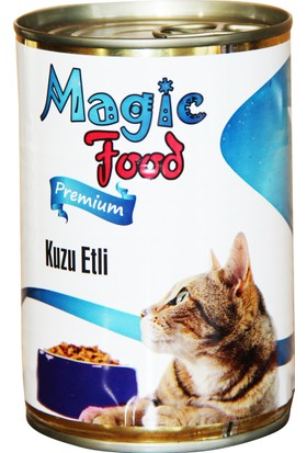 Magic FoodPremıum Kuzu Etli 415 Gr Konserve Kedi Maması (Yaş Mama)