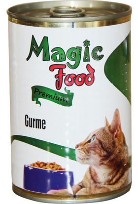 Magic FoodPremıum Gurme 415 Gr Konserve Kedi Maması (Yaş Mama)