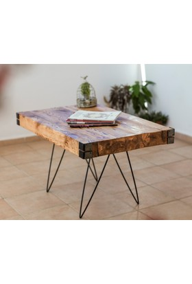Bodrum Wooden Rustik Ahşap Orta Sehpa