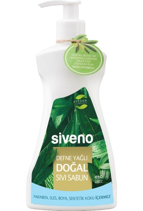 Siveno Defne Yağlı Doğal Sıvı Sabun 300 Ml Yeni